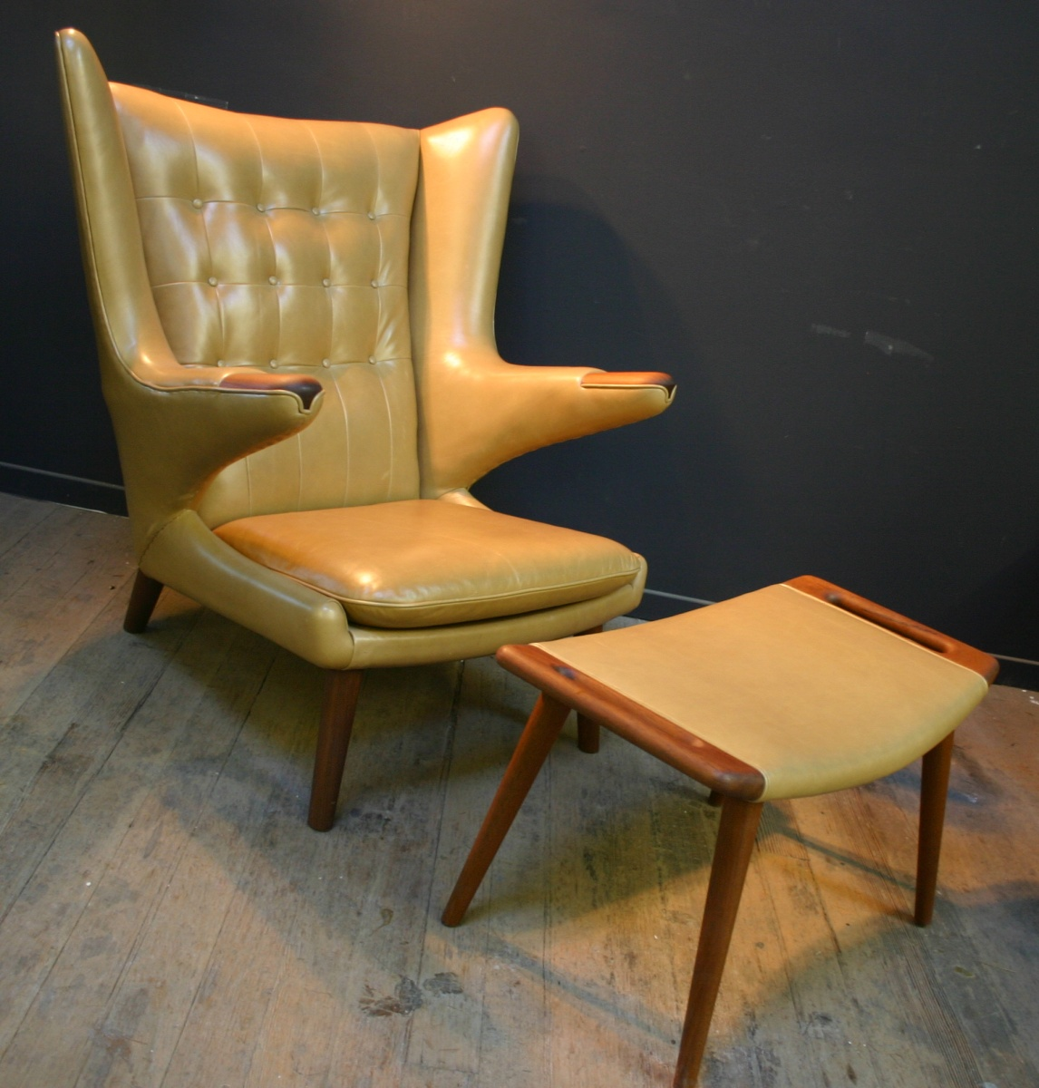 hans wegner papa bear chair restoration vintage furniture guru