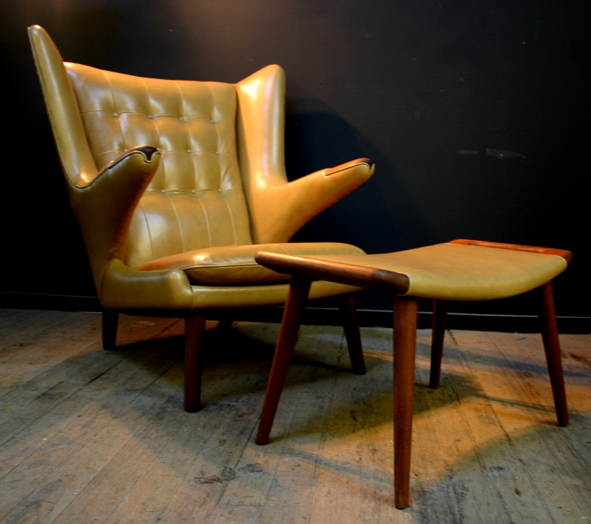 Hans Wegner Papa Bear Chair Restoration Vintage